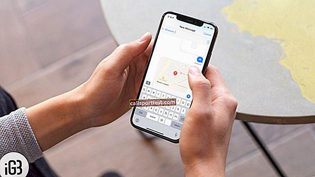 כיצד לשתף את מיקום Apple Maps באמצעות iMessage ב- iPhone / iPad