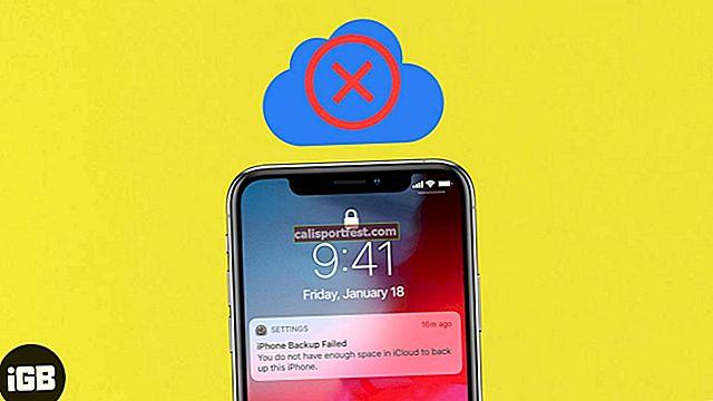 גיבוי iCloud נכשל ב- iPhone או iPad? להלן סיבות ופתרונות