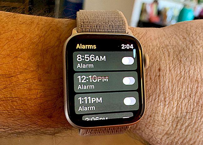 כיצד להגדיר אזעקה ב- Apple Watch