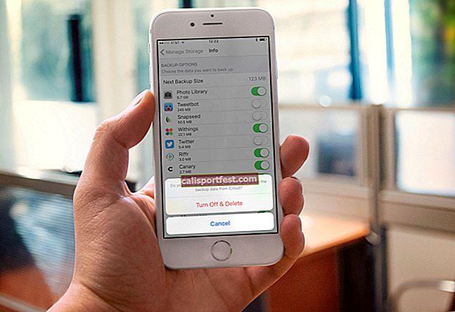 Kako izbrisati sigurnosnu kopiju iCloud da biste oslobodili prostor za pohranu